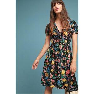 Anthropologie Maeve Floral Dress Bloedel Size 6